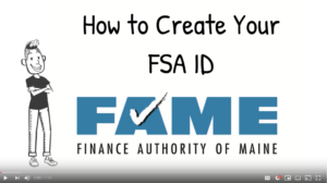 How to create your FAFSA ID. Link to YouTube video.