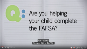 Parent FAFSA Tips. Link to a YouTube video