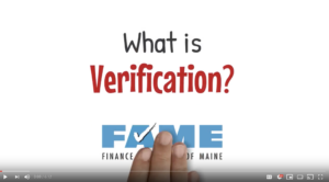 What is verification on the FAFSA? Link to a YouTube video.