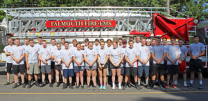 Thirty-five first-year SMCC students are participating in a three-week Summer Fire Academy to develop basic firefighting and EMS skills as part of their participation in SMCC's Public Safety Live-in Program. The Academy kicked off on Monday at the Falmouth central fire station.